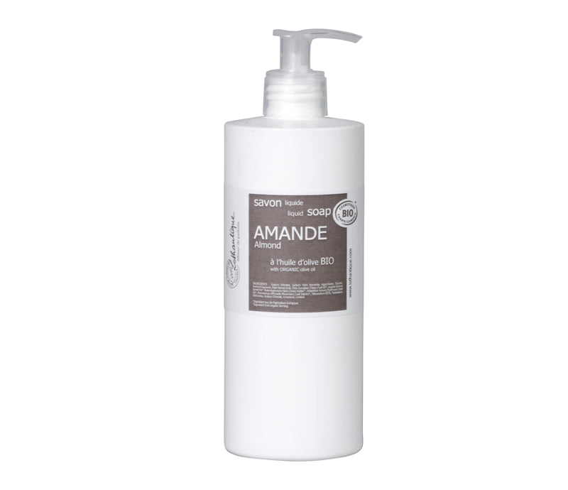 Lothantique Organic 500mL Almond Liquid Soap - Lothantique Canada