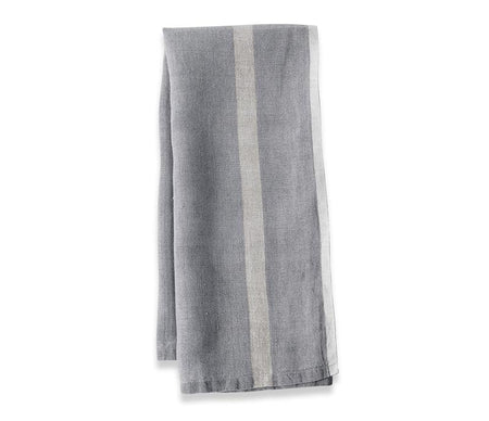 Caravan Laundered Linen Grey/Natural Tea Towel - Lothantique Canada
