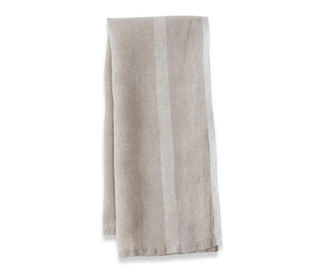 Caravan Laundered Linen Natural/White Tea Towel - Lothantique Canada