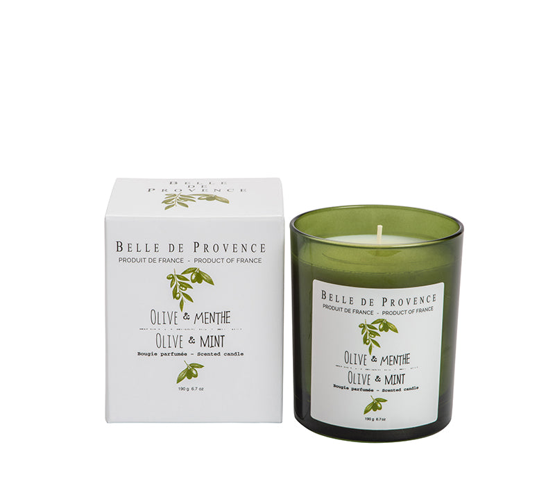 Belle de Provence Olive & Mint 190g Scented Candle
