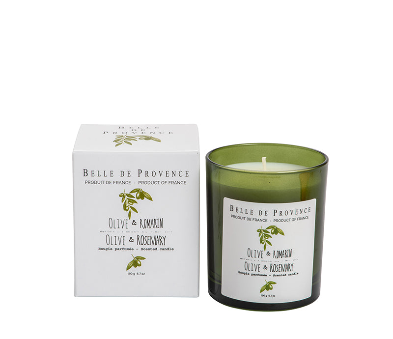 Belle de Provence Olive & Rosemary 190g Scented Candle - Lothantique Canada