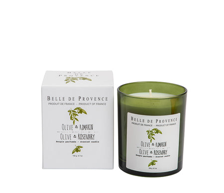 Belle de Provence Olive & Rosemary 190g Scented Candle - NEW!