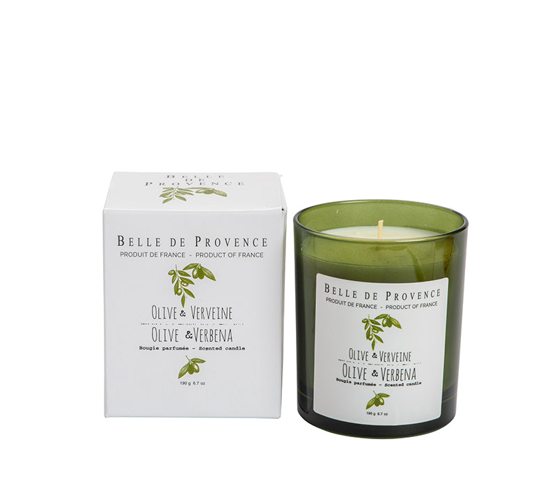 Belle de Provence Olive & Verbena 190g Scented Candle - NEW!