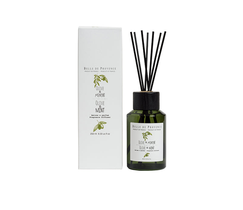 Belle de Provence Olive & Mint 250mL Fragrance Diffuser