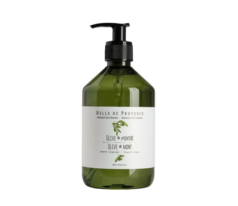 Belle de Provence Olive & Mint 500mL Liquid Soap - NEW LOOK!