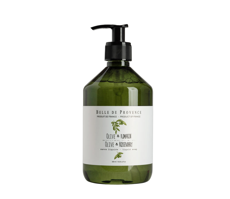 Belle de Provence Olive & Rosemary 500mL Liquid Soap