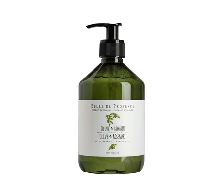 Belle de Provence Olive & Rosemary 500mL Liquid Soap - NEW LOOK!