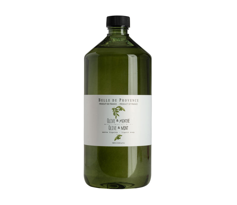 Belle de Provence Olive & Mint 1L Liquid Soap