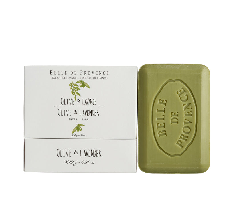 Belle de Provence Olive & Lavender 200g Soap- NEW LOOK!