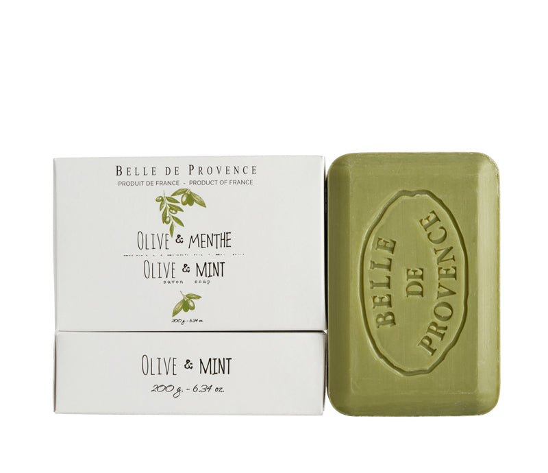 Belle de Provence Olive & Mint 200g Soap- NEW LOOK!