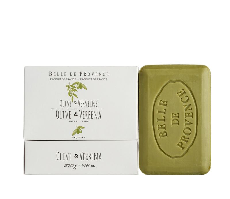 Belle de Provence Olive & Verbena 200g Soap- NEW LOOK!