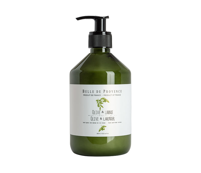 Belle de Provence Olive & Lavender 500mL Hand and Body Lotion - Lothantique Canada