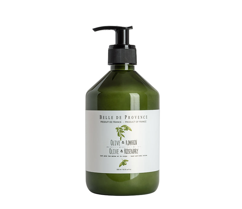 Belle de Provence Olive & Rosemary 500mL Hand and Body Lotion - NEW!