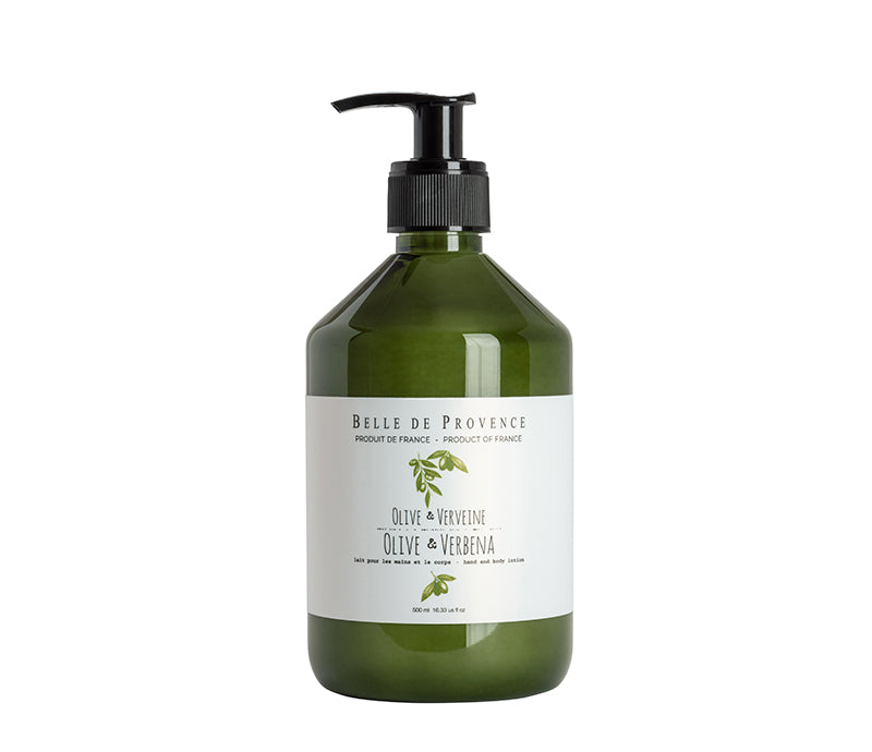 Belle de Provence Olive & Verbena 500mL Hand and Body Lotion - Lothantique Canada