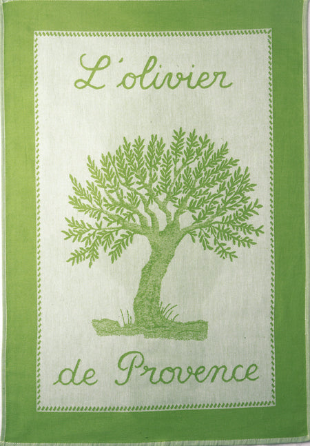 Coucke Olivier Almond Green Tea Towel - Lothantique Canada