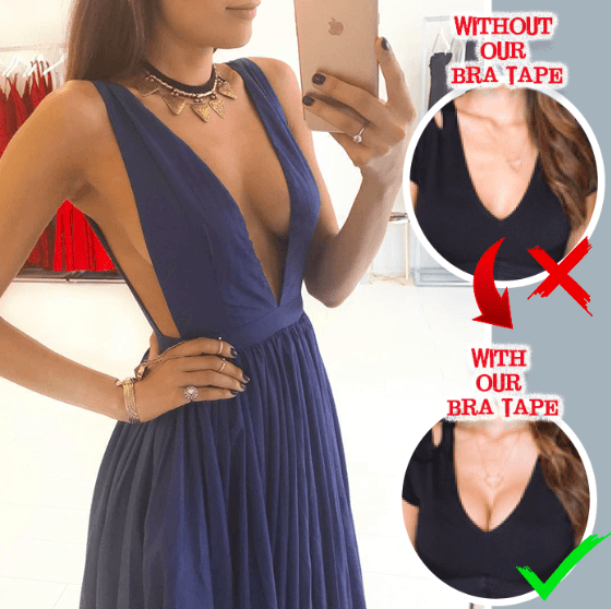 Invisible Strapless Push-Up Bra Tape