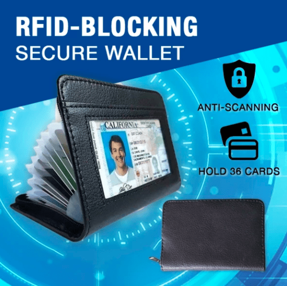 50% OFF TODAY - RFID-Blocking Secure Wallet