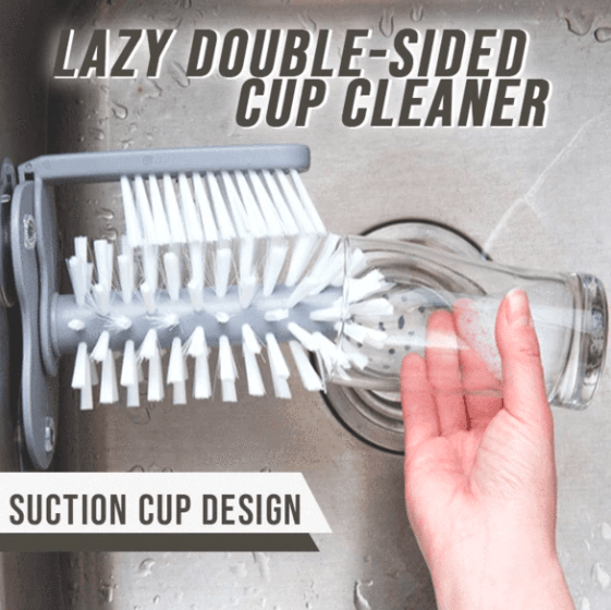 50% OFF TODAY ONLY- Lazy Double-Sided Cup Cleaner
