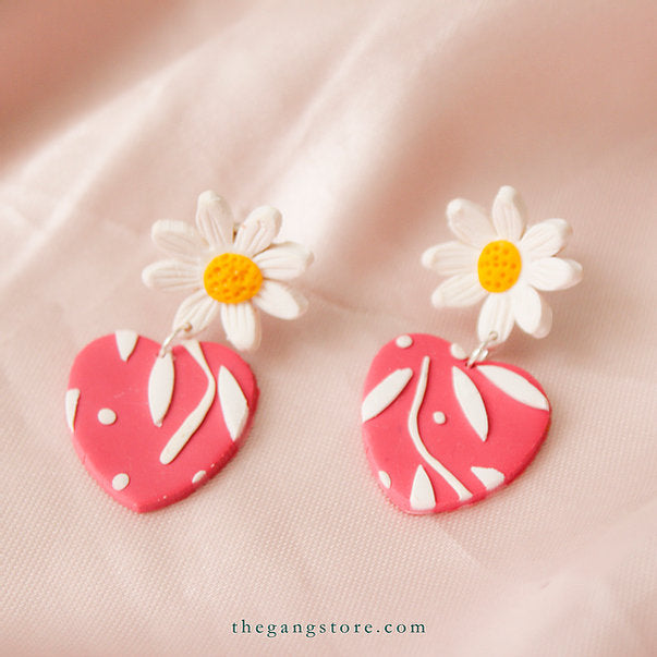 ARETES BLOOMING HEARTS