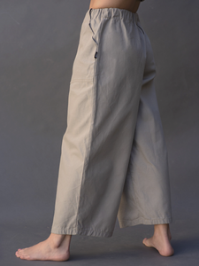 WIDE TROUSERS GRIS