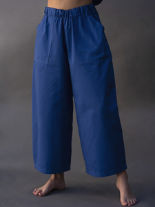 WIDE TROUSERS AZUL