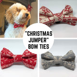 """Christmas Jumper"" Premium Bow Tie"