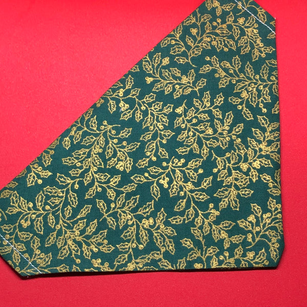Golden Green Holly Bandana
