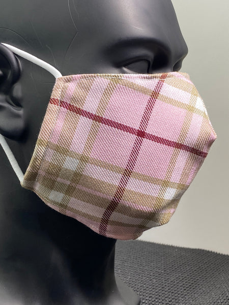 """Errigal"" Premium Pink Tartan Face Covering"