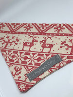 """Christmas Jumper"" Premium Bandana - Red Print"