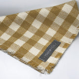"""Picnic Check"" Premium Fringed Dog Bandana"