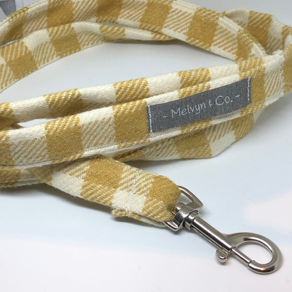 """Picnic Check"" Fringed Dog Lead"
