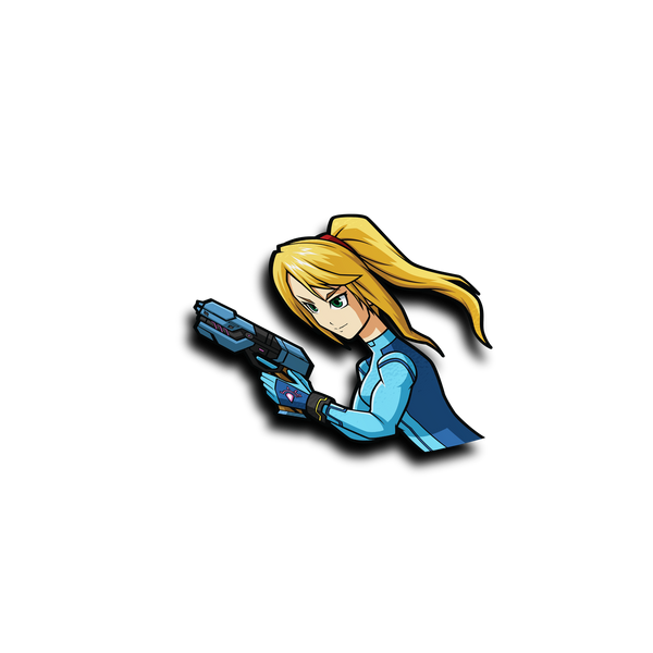 Zero Suit Samus Peeker Sticker