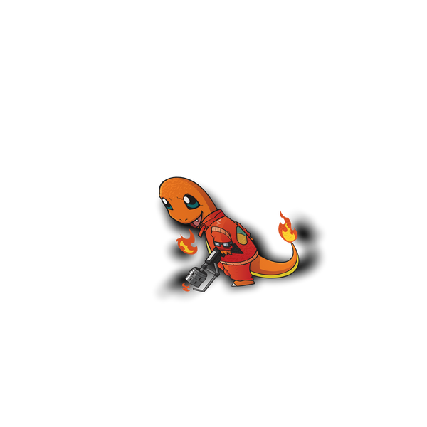 Charmander x Akira Full Sticker
