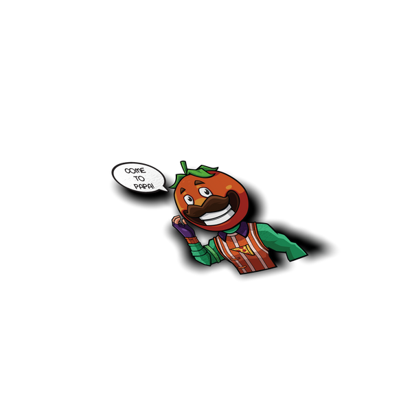Fortnite Tomatohead Skin Peeker Sticker - Sticker Kawaii Desu