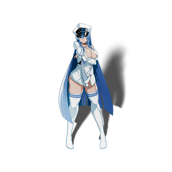 Nightgown Esdeath Waifu Sticker - Sticker Kawaii Desu