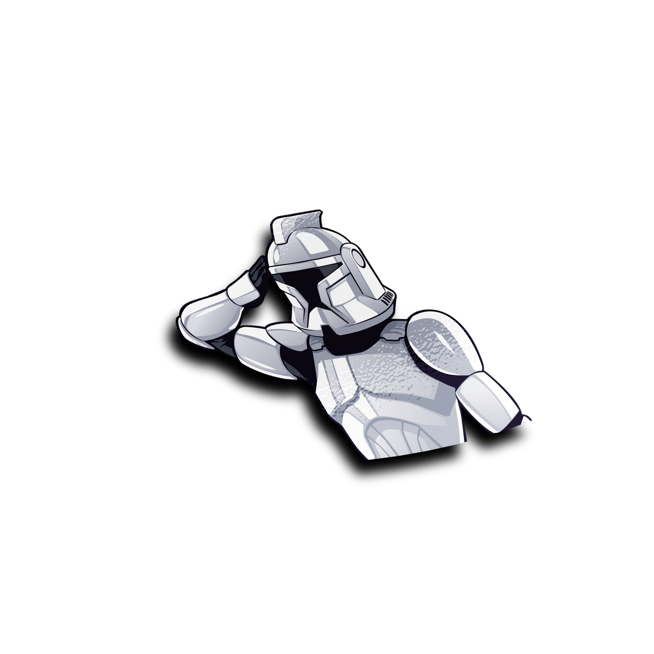 Trooper Half Peeker Sticker