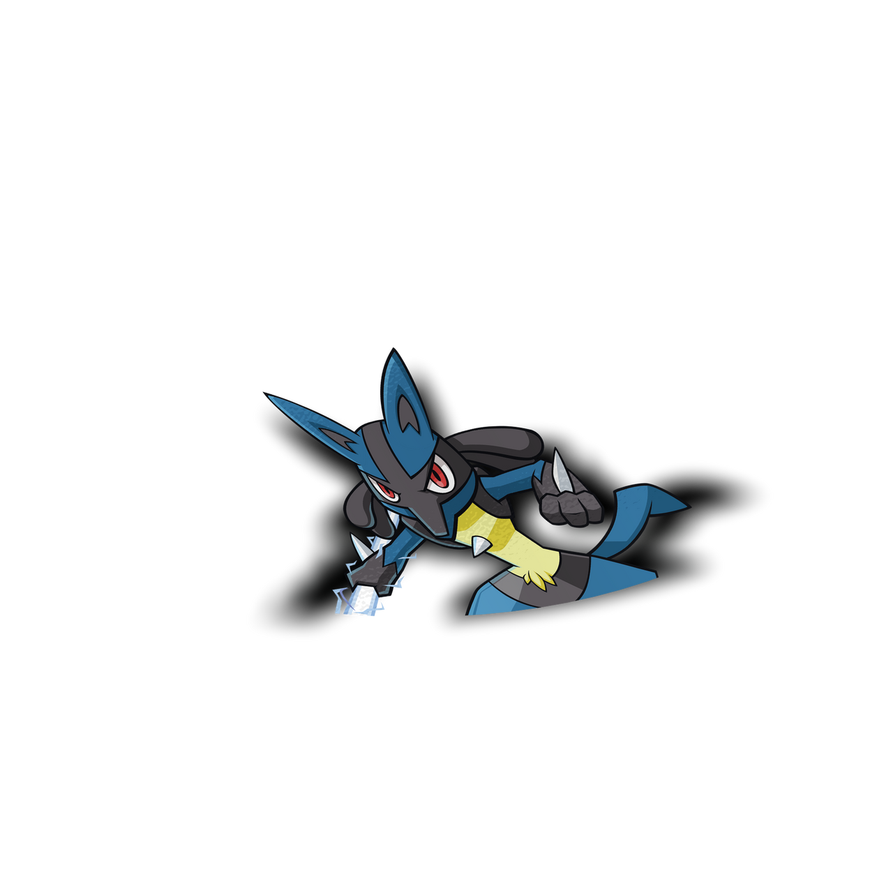Lucario Peeker Sticker