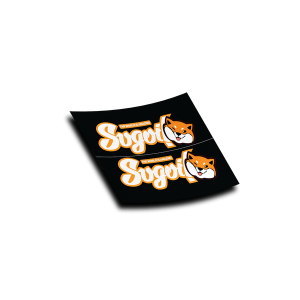 Orange Stay Sugoi 2 Piece Sticker