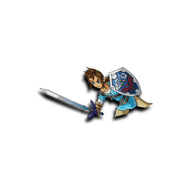 Blue Link Peeker Sticker