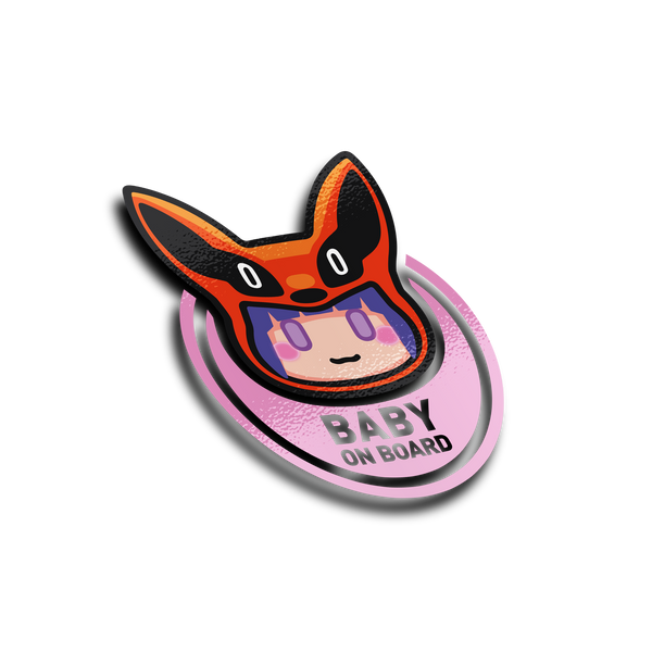 BABY ON BOARD - Girl Large sticker