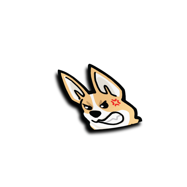 Mad Corgi Peeker Sticker