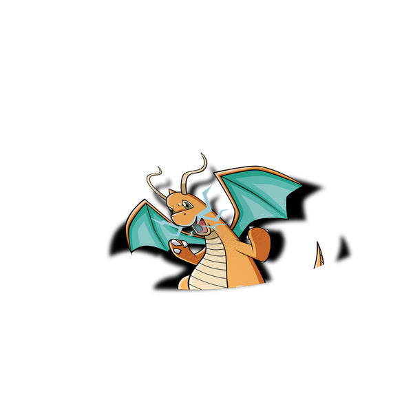 Dragonite Peeker Sticker