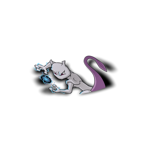 Mewtwo Peeker Sticker