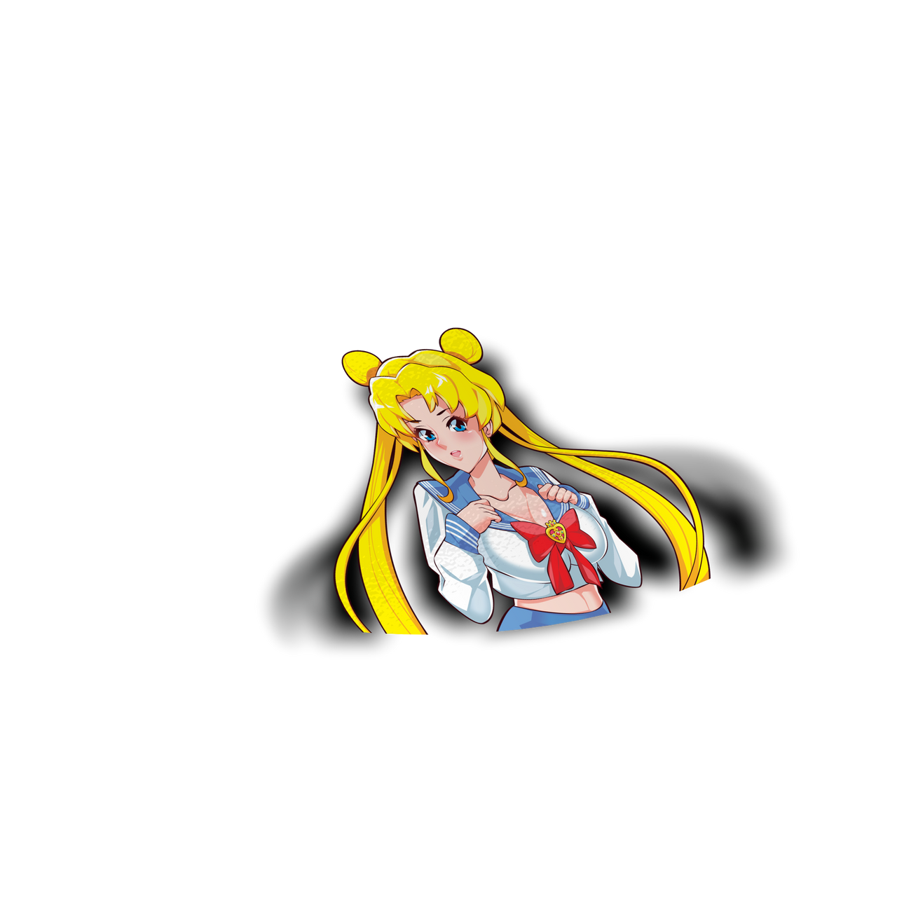 Sailor Moon Usagi Peeker Sticker - Sticker Kawaii Desu