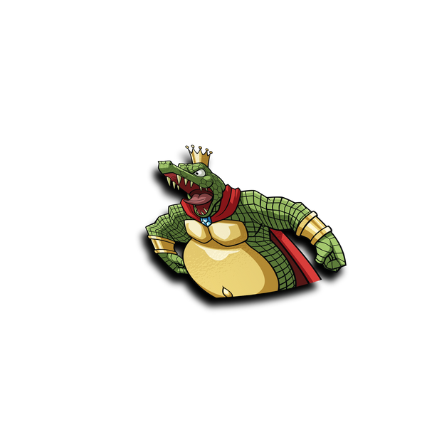 King K.Rool Peeker Sticker