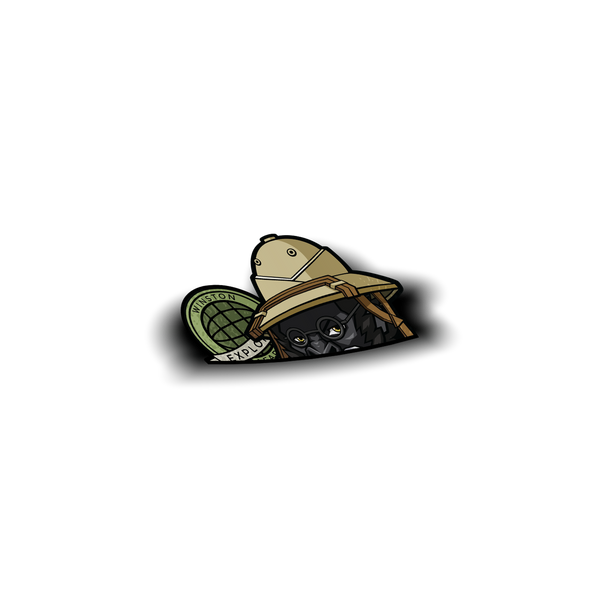 Winston Safari Peeker Sticker - Sticker Kawaii Desu