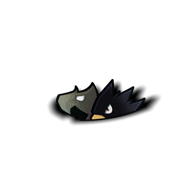 Holographic Mini Tokoyami Peeker Sticker - Sticker Kawaii Desu