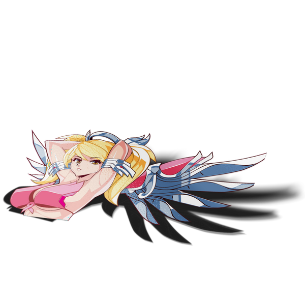 Summer Pink Mercy Peeker Sticker - Sticker Kawaii Desu