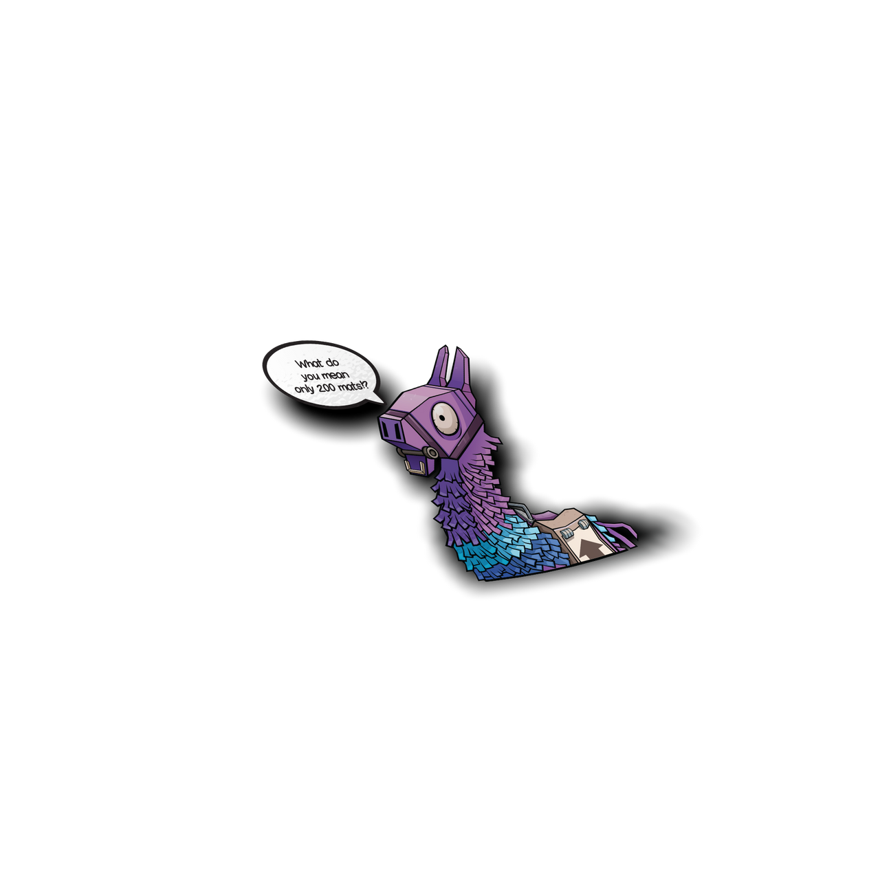 Fortnite Llama Peeker Sticker - Sticker Kawaii Desu