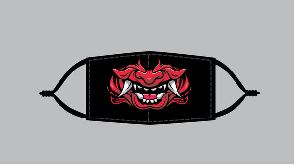 Red Oni (SMALL SIZED PRINT) Mask